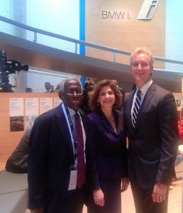 Warren Brown, Washington Post; Barbara Pomerance, Pomerance & Associates;  Kevin Reilly, 2014 Washington Auto Show chairman