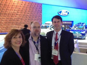 Barbara Pomerance with David Kiley, Editor-in-Chief, AOL Autos and John O'Donnell, Executive Vice President at WANADA and Assistant Show Producer of The Washington Auto Show®.
