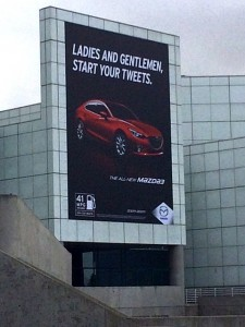 Our friends at Mazda remind us to be socially engaged.