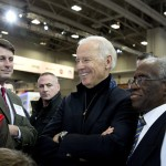 John O'Donnell, executive vice president, WANADA with Vice President Joe Biden amd Warren Brown, journalist, The Washington Post.