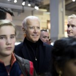 Vice President Joe Biden and auto show chairman Kevin Reilly.