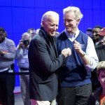 VP Biden and auto show chairman Kevin Reilly share a bonding moment.