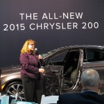 Kathy Graham, Product PR Manager at  Chrysler Group LLC with the all-new 2015 Chrysler 200.