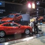 David Matthew, Vehicle Line Manager and Tamara Mlynarczyk, Manager, Public Affairs, Mazda North American Operations.