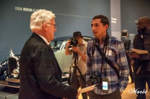Ken Gross, guest curator and museum consultant with Nick Palermo, Greater Atlanta Automotive Media Association (GAAMA) president. Photo by Bonnie M. Moret.