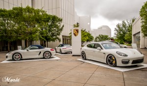 Porsche display outside of High Museum. Photo by Bonnie M. Moret