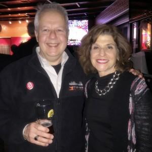 Two PR pros - Joe Rohatynski and Barbara Pomerance of The Washington Auto Show.