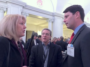 Gloria Bergquist, ‎VP at Alliance of Automobile Manufacturers, Bob Yoffe, Yoffe Expositiion and John O'Donnell, president and CEO Washington Area New Automobile Dealers Association at NADA symposium.