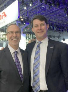 Auto dealers association presidents Mark Schienberg of Greater NY Automobile Dealers Association with John O'Donnell Washington Area New Automobile Dealers Association.