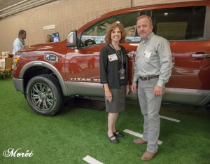 Barbara Pomerance with Nissan's Steve Parrett, Manager, Southeast & South Central Communications .