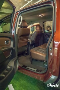The roomy interior of the 2016 Nissan TITAN XD.
