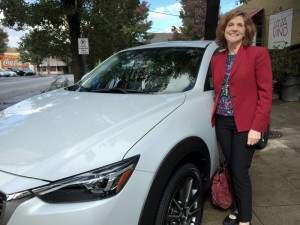 Barbara Pomerance with Mazda CX-3.