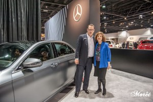 Christian Bokich,Dept. Manager, Product & Technology Communications, Mercedes-Benz USA and Barbara Pomerance, CEO, Pomerance & Associates.