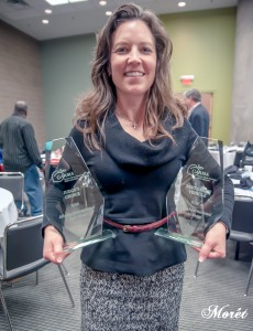Kimberly Shults of FCA was graced with two GAAMA Awards - Best Green: 2017 Chrysler Pacifica Hybrid and Judges Choice: 2017 Alfa Romeo Giulia Quadrifoglio.
