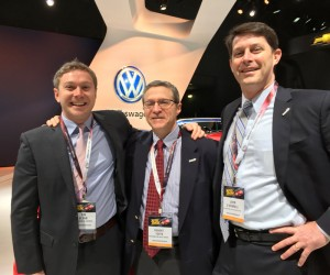Tim Glynn, Digital Media Manager at Volkswagen of America, Inc., Bob Yoffe of Yoffe Expo and John O'Donnell, CEO of Washington Area New Automobile Dealers Association.