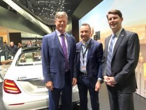 Geoff Pohanka, chairman of The Washington Auto Show, Robert Moran, director of corporate communications, Mercedes-Benz USA, John O'Donnell, ceo of Washington Area New Automobile Dealer Association.