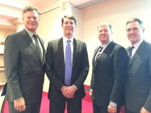 Geoff Pohanka, chairman of The Washington Auto Show, John O'Donnell, ceo of Washington Area New Automobile Dealer Association, Daniel Jobe of the Washington Auto Show Committee, Rod Alberts, executive director of the Detroit Auto Dealers Association (DADA).