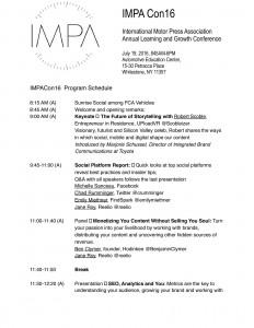 IMPA Con Schedule.